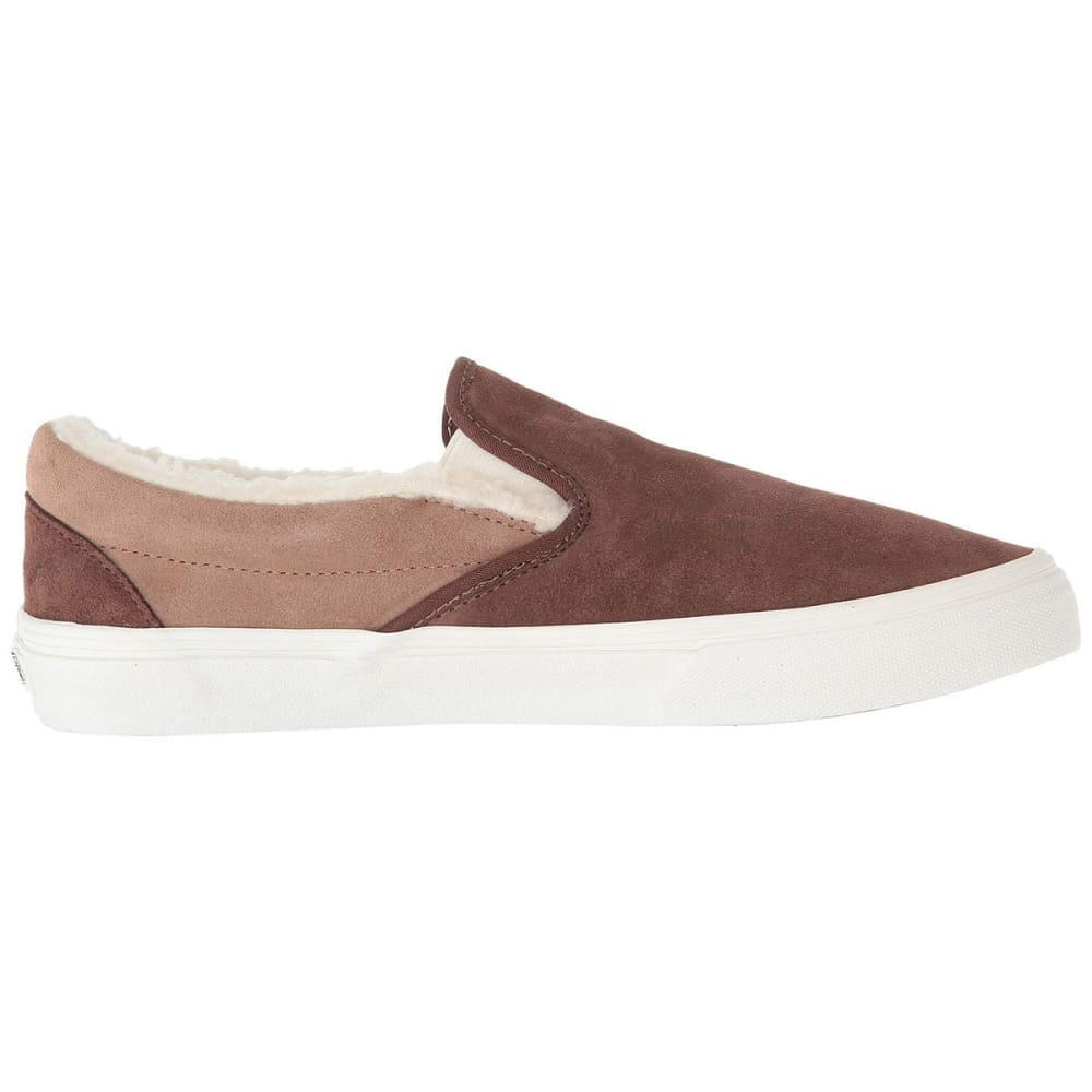VANS Men's Classic Suede and Sherpa Slip-On Skate Shoes M 11 / W 12.5