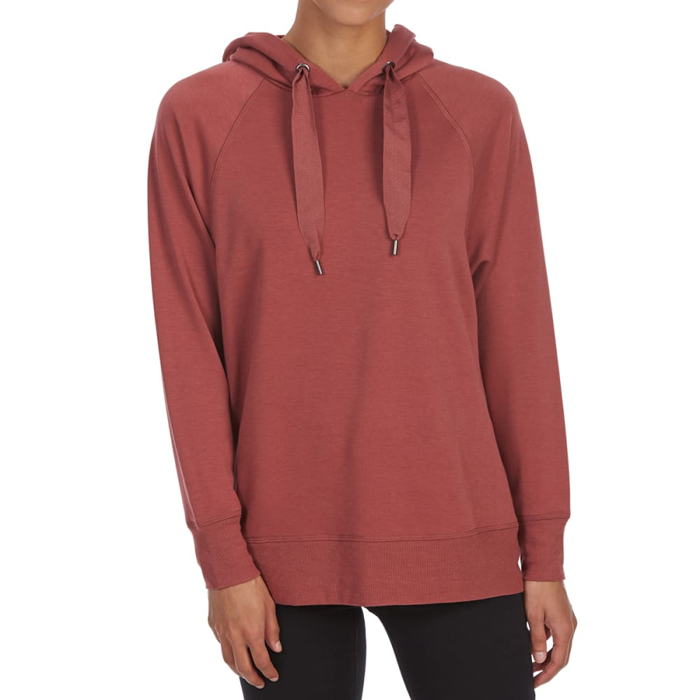 PINK ROSE Juniors' Fleece Hooded Pullover - WINE