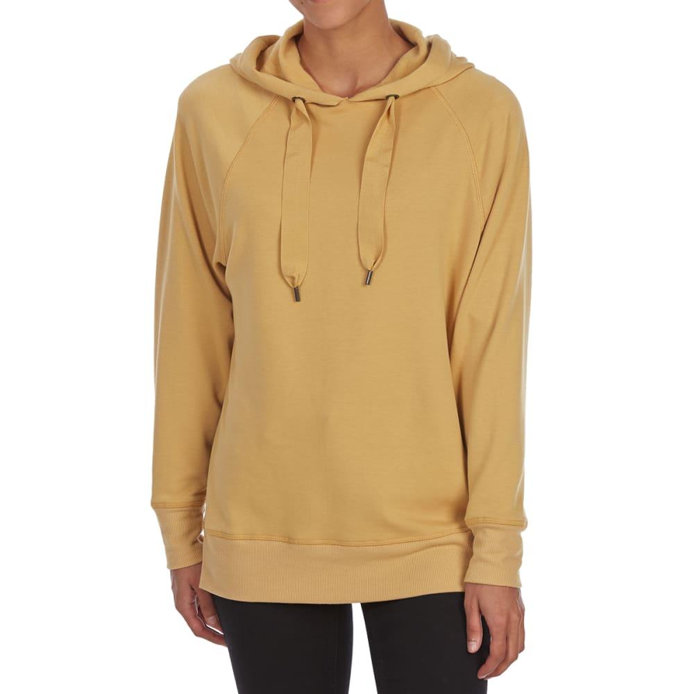 PINK ROSE Juniors' Fleece Hooded Pullover - GOLD