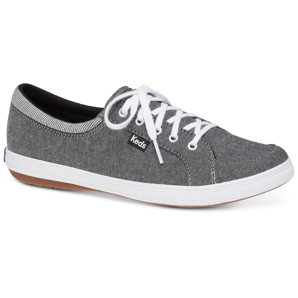 KEDS Women's Tour Chambray Stripe Sneakers - BLACK CHAMBRAY