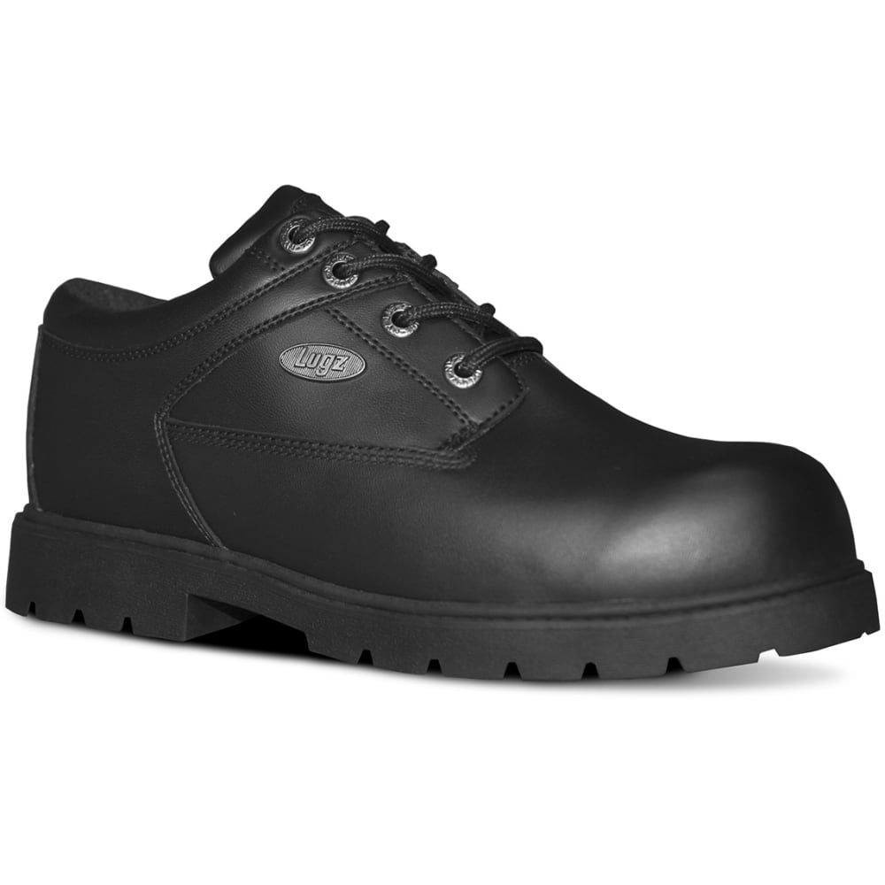 LUGZ Men's Savoy SR Oxford Work Shoes, Wide - BLACK