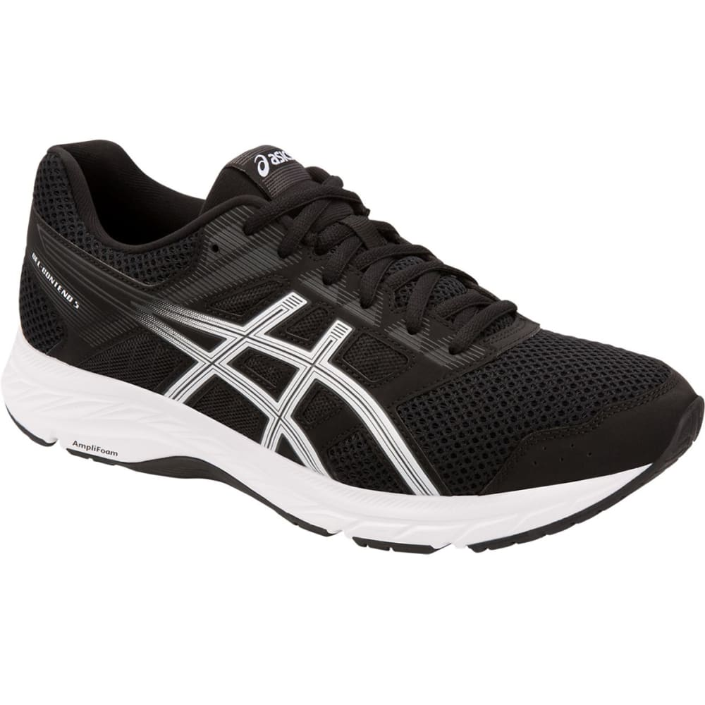 ASICS Men's GEL-Contend 5 Running Shoe - BLACK/WHITE-001