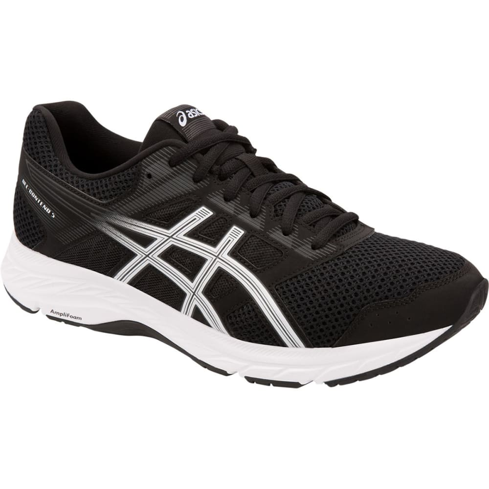 ASICS Men's GEL-Contend 5 Running Shoe, 4E - BLACK/WHITE-001