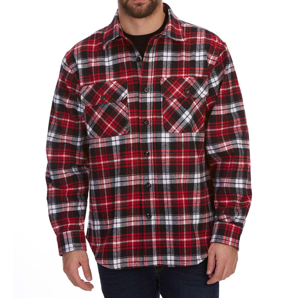 DUNLOP Men's Plaid Brawny Long-Sleeve Shirt XXL