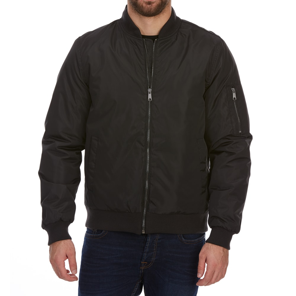 GELERT Men's Waterproof Poly Fill Bomber Jacket - BLACK