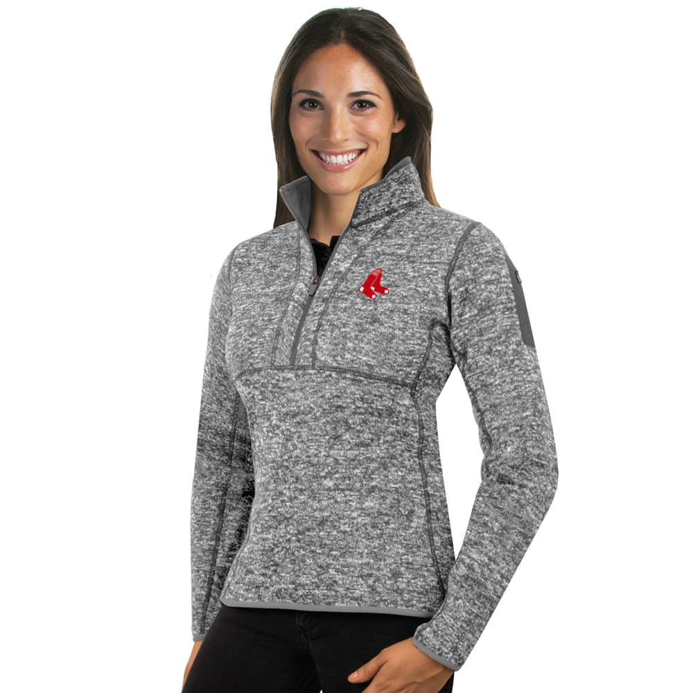 BOSTON RED SOX Women's Fortune 1/4 Zip Pullover - GREY