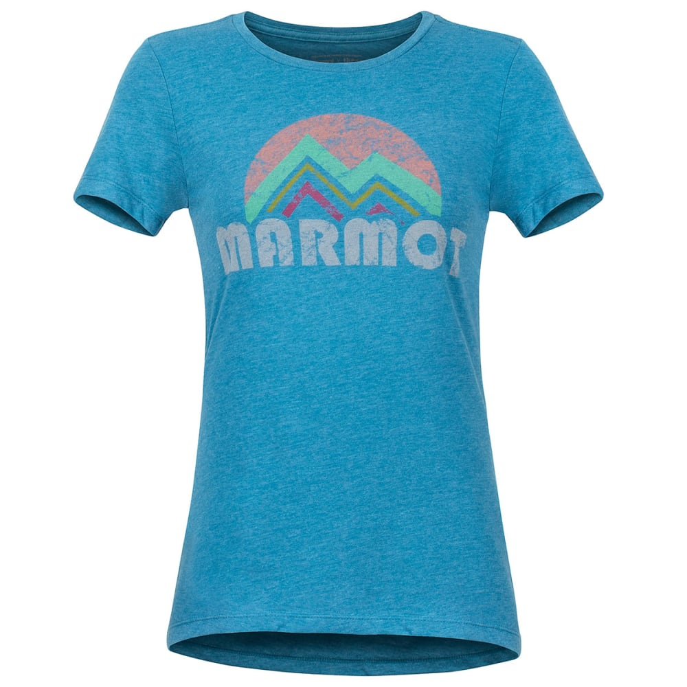 Marmot Women's Reyes Short-Sleeve Tee - Blue, S