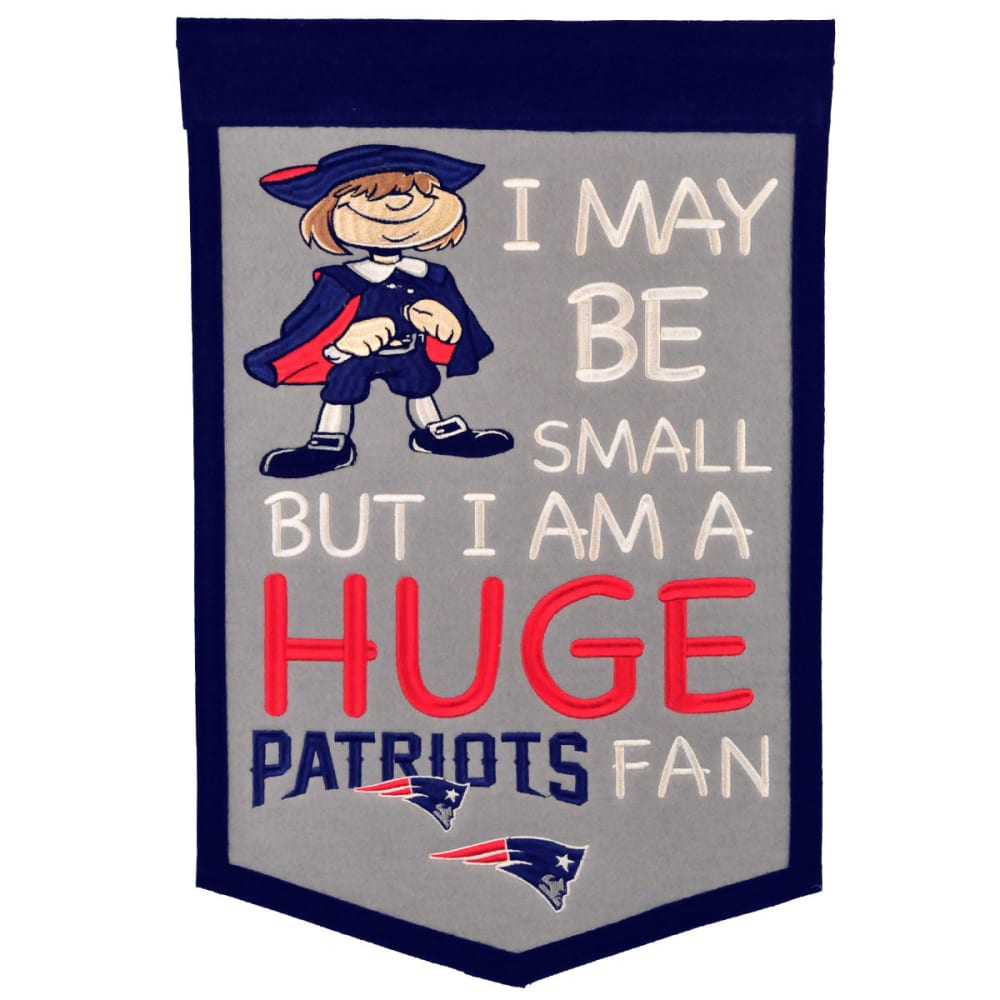 NEW ENGLAND PATRIOTS Lil' Fan Banner - NO COLOR