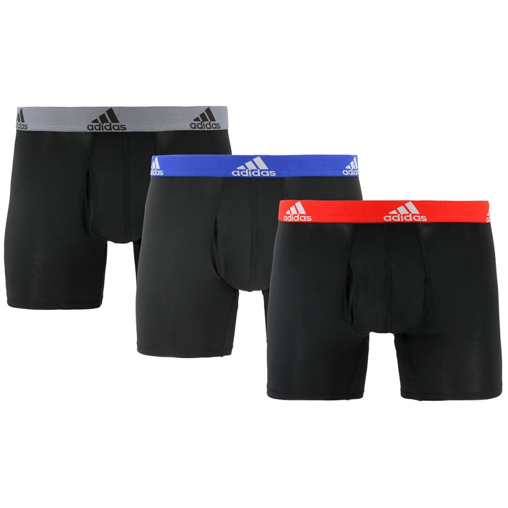 ADIDAS Men's Climalite Boxers, 3-Pack S