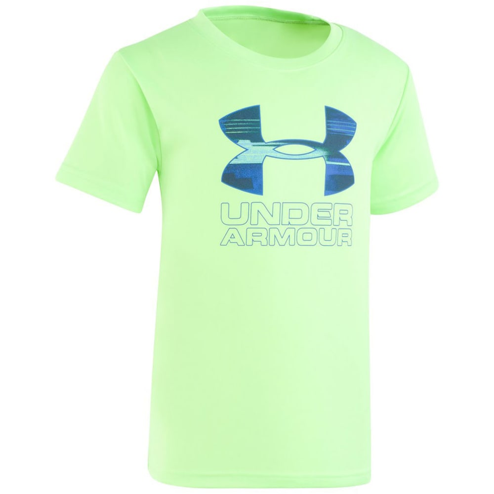 Under Armour Boys' Latitude Big Logo Short-Sleeve Tee - Green, 4