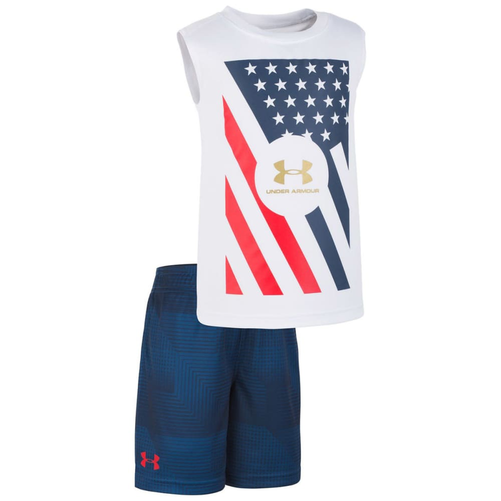 UNDER ARMOUR Boy's UA Flag Tee and Shorts Set 5