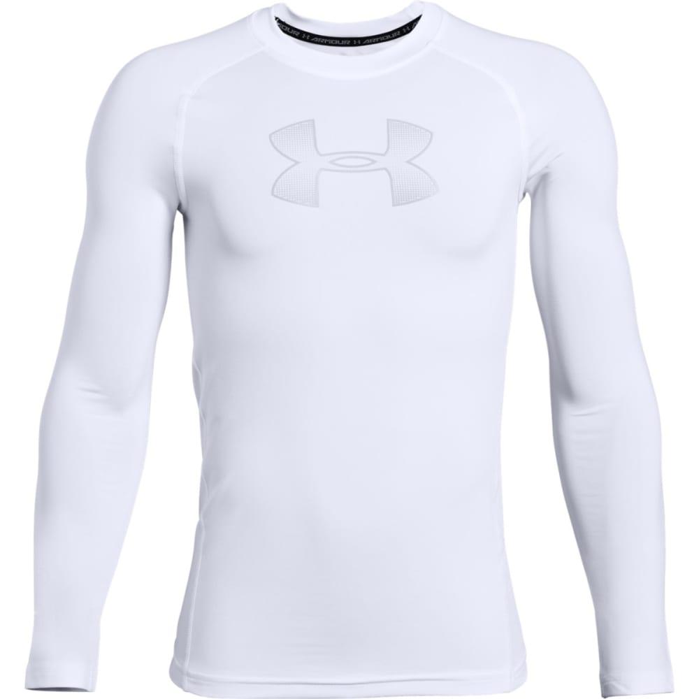 UNDER ARMOUR Big Boys' Long-Sleeve HeatGear Shirt M