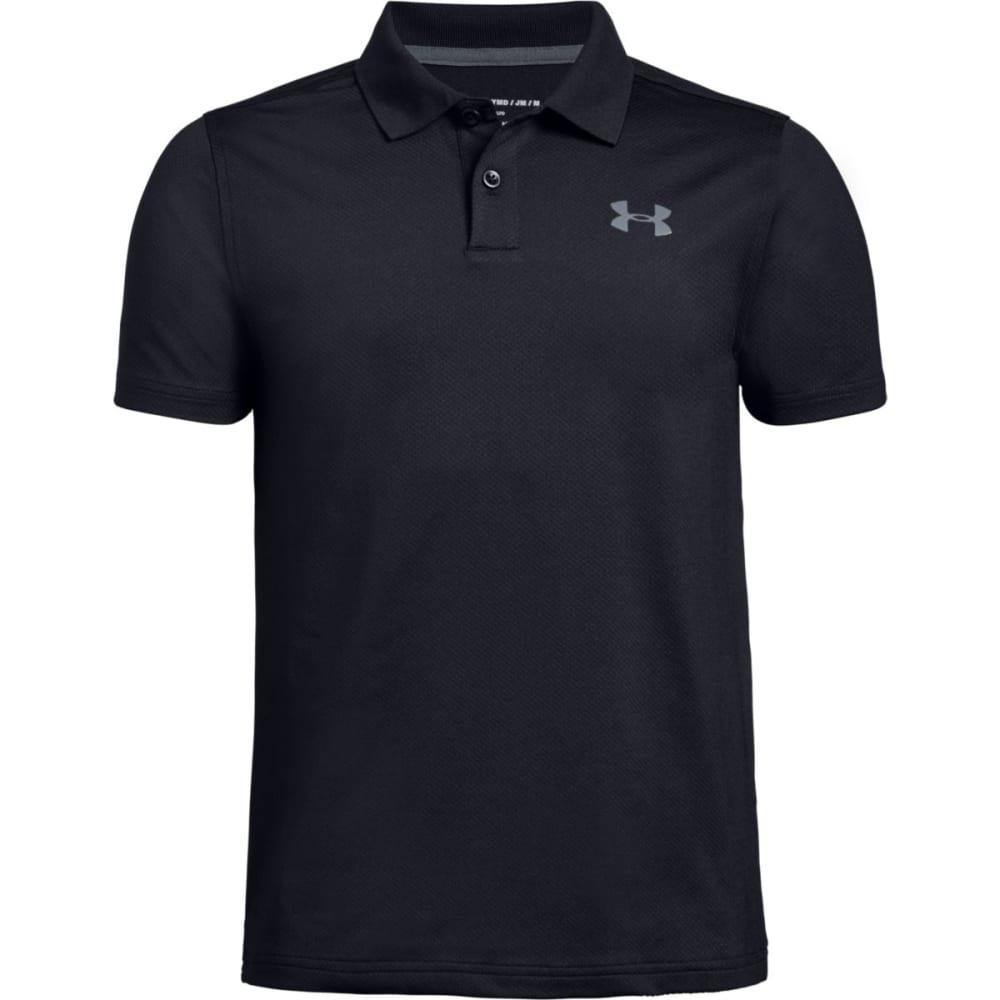 Under Armour Boys' Performance Short-Sleeve Polo Shirt - Black, L