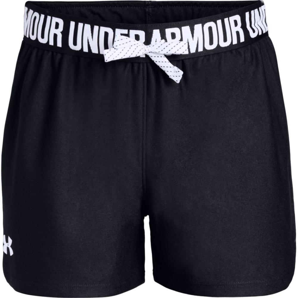 UNDER ARMOUR Girls' Play Up Shorts - BLACK-001