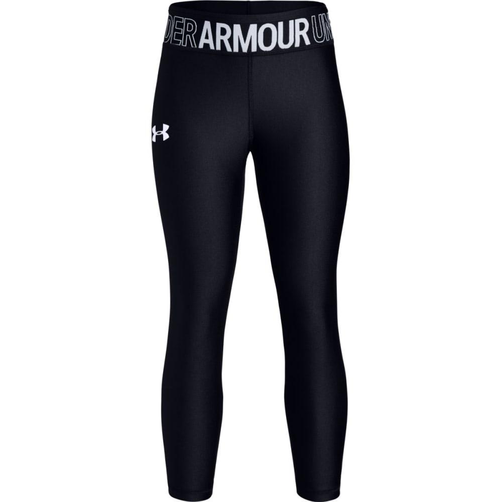 UNDER ARMOUR Girls' HeatGear Armour Ankle Crop Leggings S