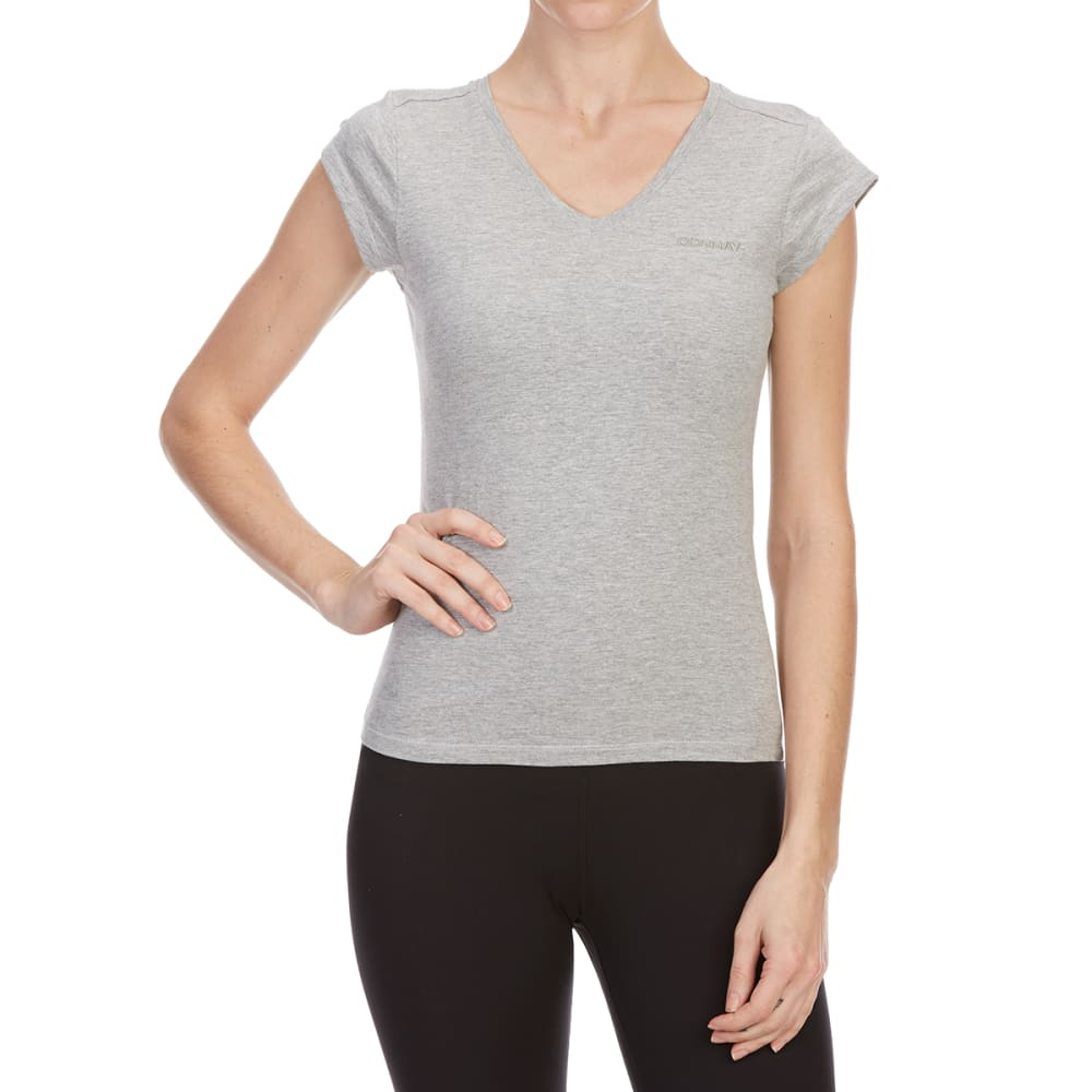 Donnay Women's V-Neck Short-Sleeve Tee - Black, 10