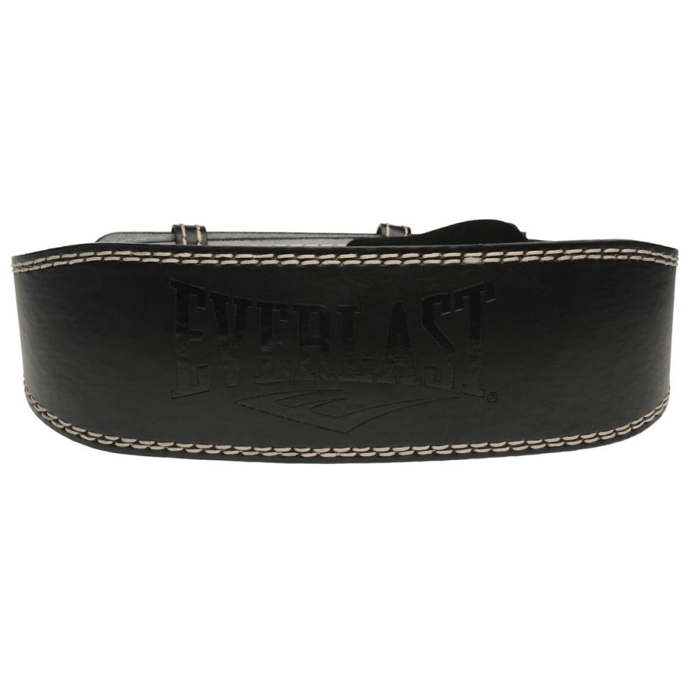 EVERLAST Leather Weightlifting Belt - BLACK