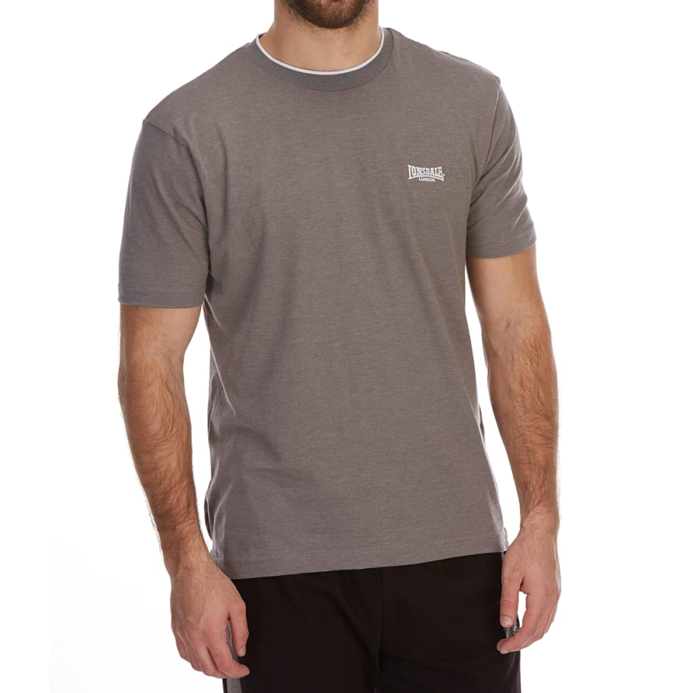 Lonsdale Men's Tipped Tee - Black, L