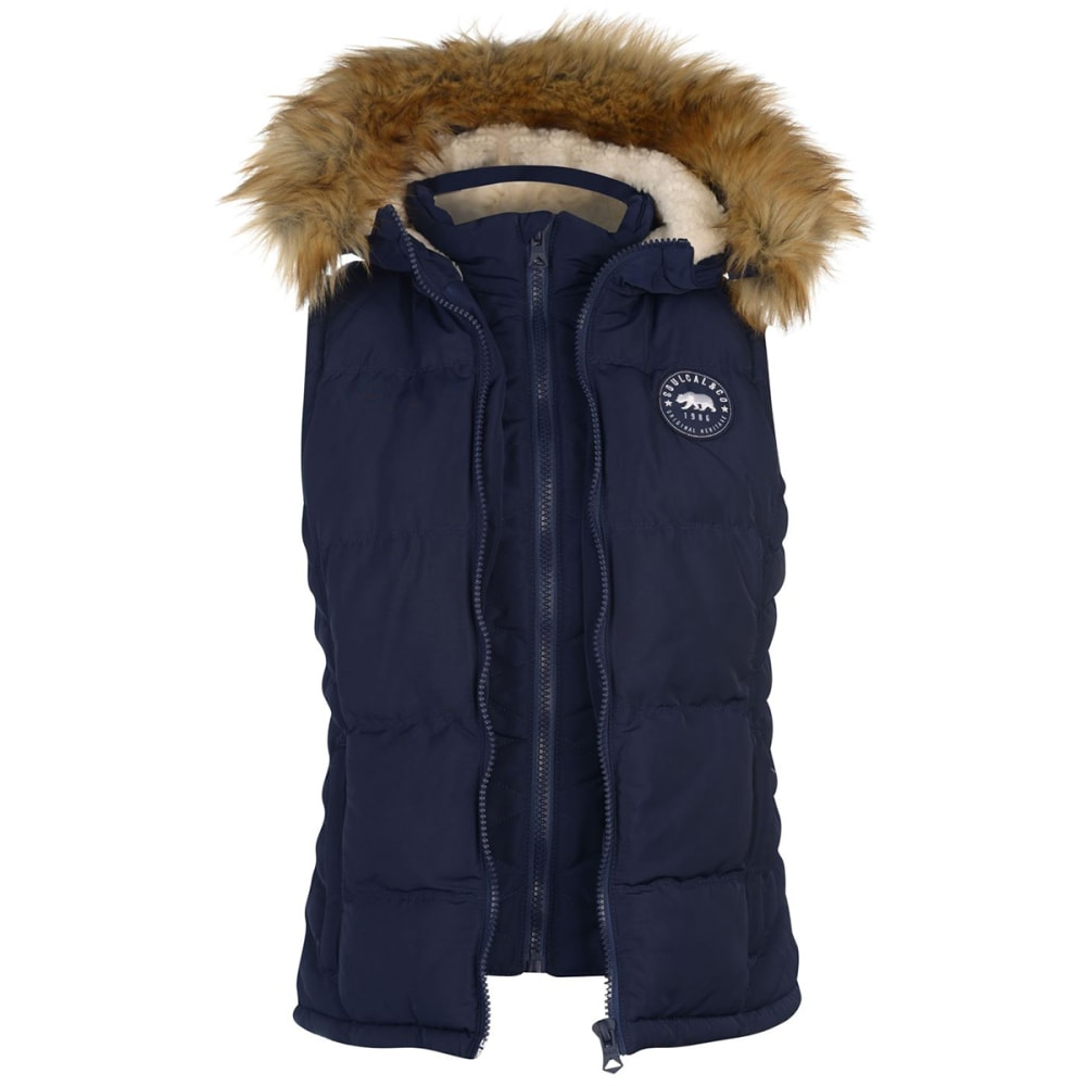 SOULCAL Women's 2-Zip Quilted Vest 16