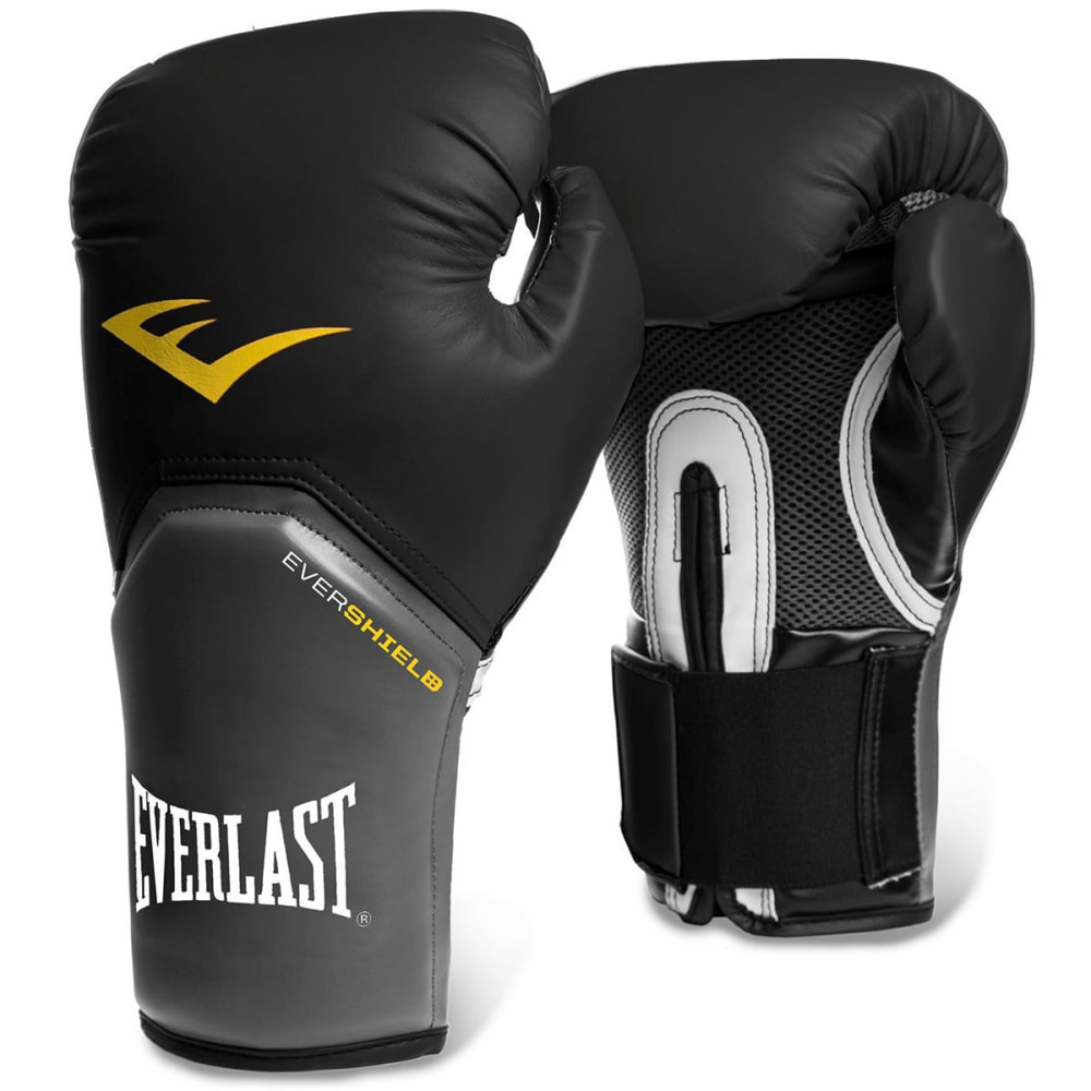 EVERLAST Elite Training Boxing Gloves - BLACK/GREY