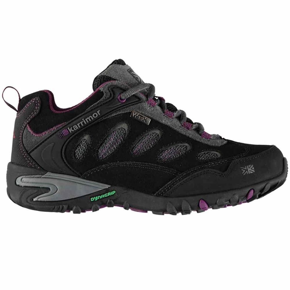 KARRIMOR Women's Ridge WTX Waterproof Low Hiking Shoes - CHARCOAL