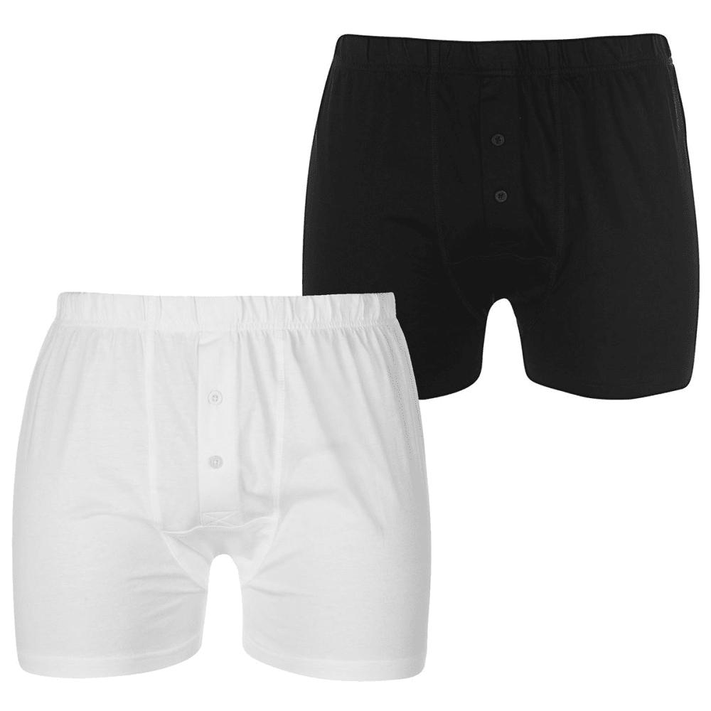 Lonsdale Men's Boxers, 2-Pack - Black, L