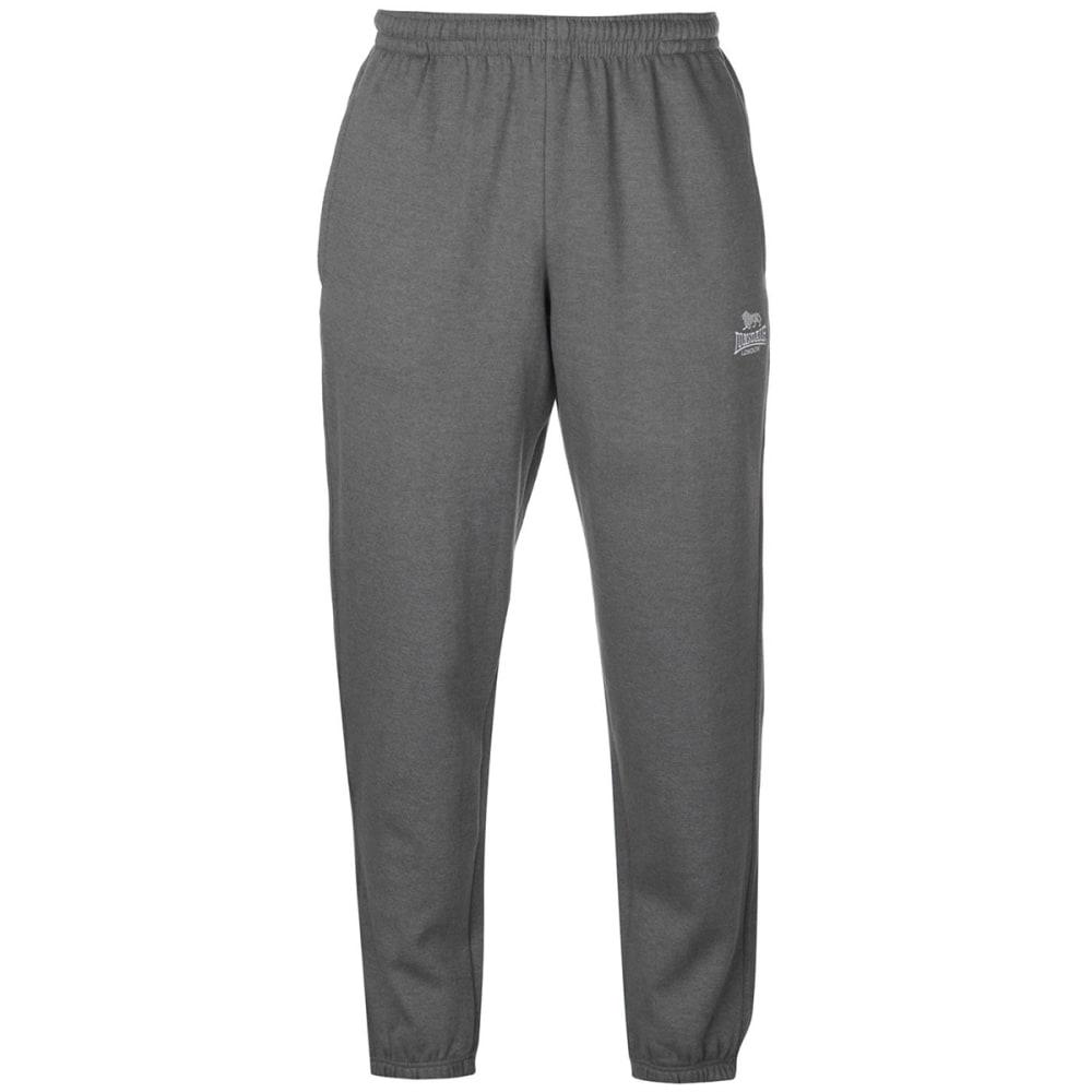 Lonsdale Men's Fleece Track Pants - Black, 4XL