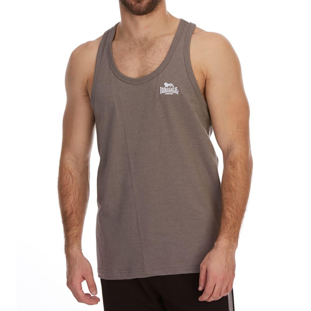 Lonsdale Men's Muscle Vest - Black, L