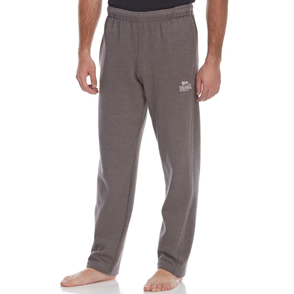 Lonsdale Men's Open-Hem Fleece Pants - Black, 4XL
