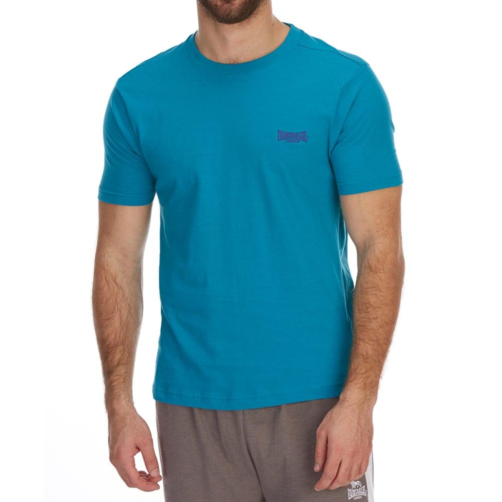 Lonsdale Men's Plain Short-Sleeve Tee - Blue, 4XL