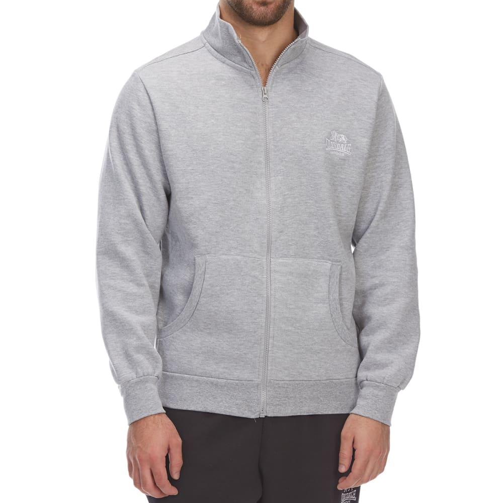 Lonsdale Men's Full-Zip Fleece Jacket - Black, 4XL