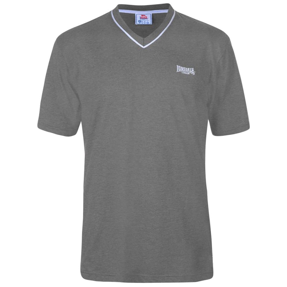 Lonsdale Men's Short-Sleeve V Neck Tee - Black, L