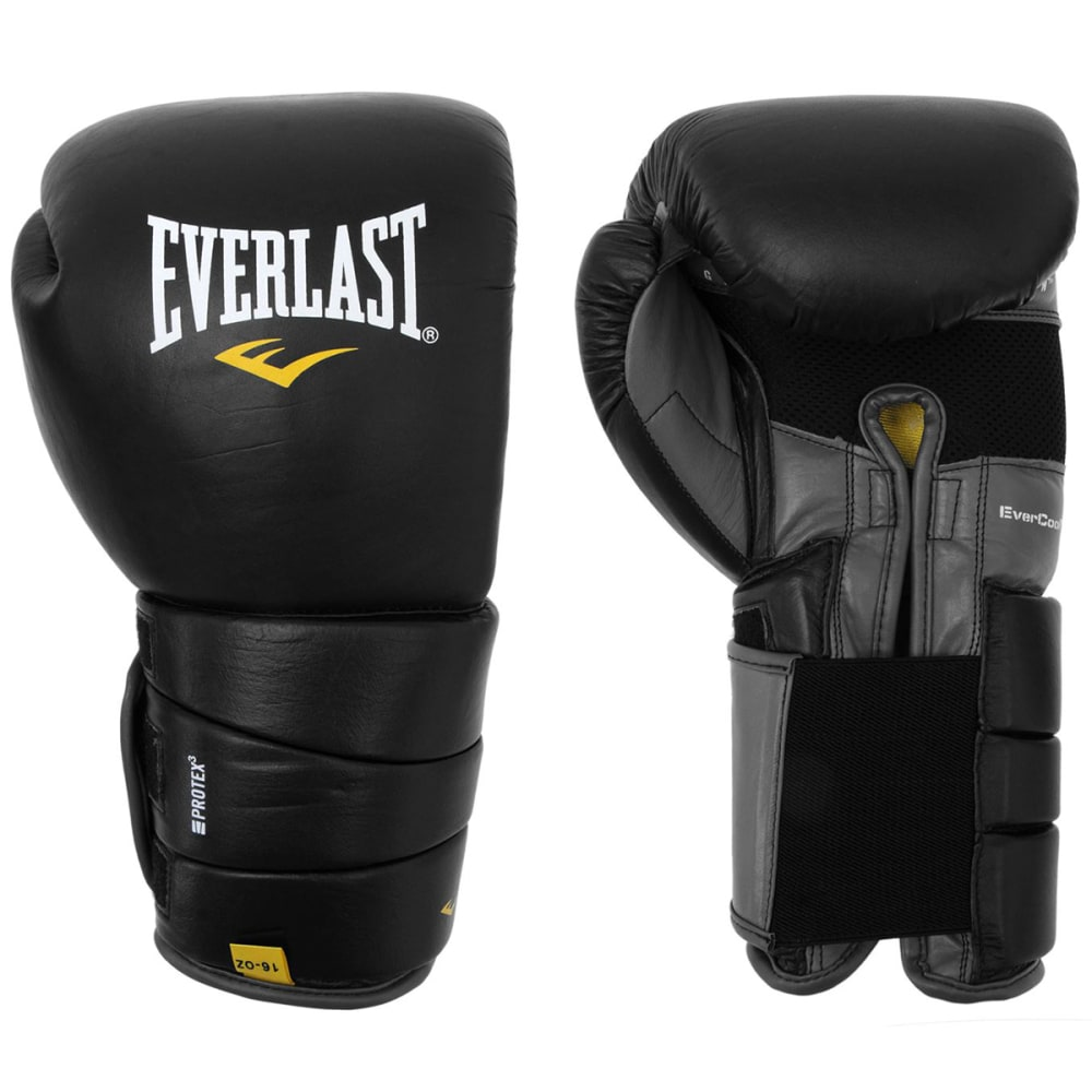 EVERLAST Leather Pro 3 Boxing Gloves - BLACK
