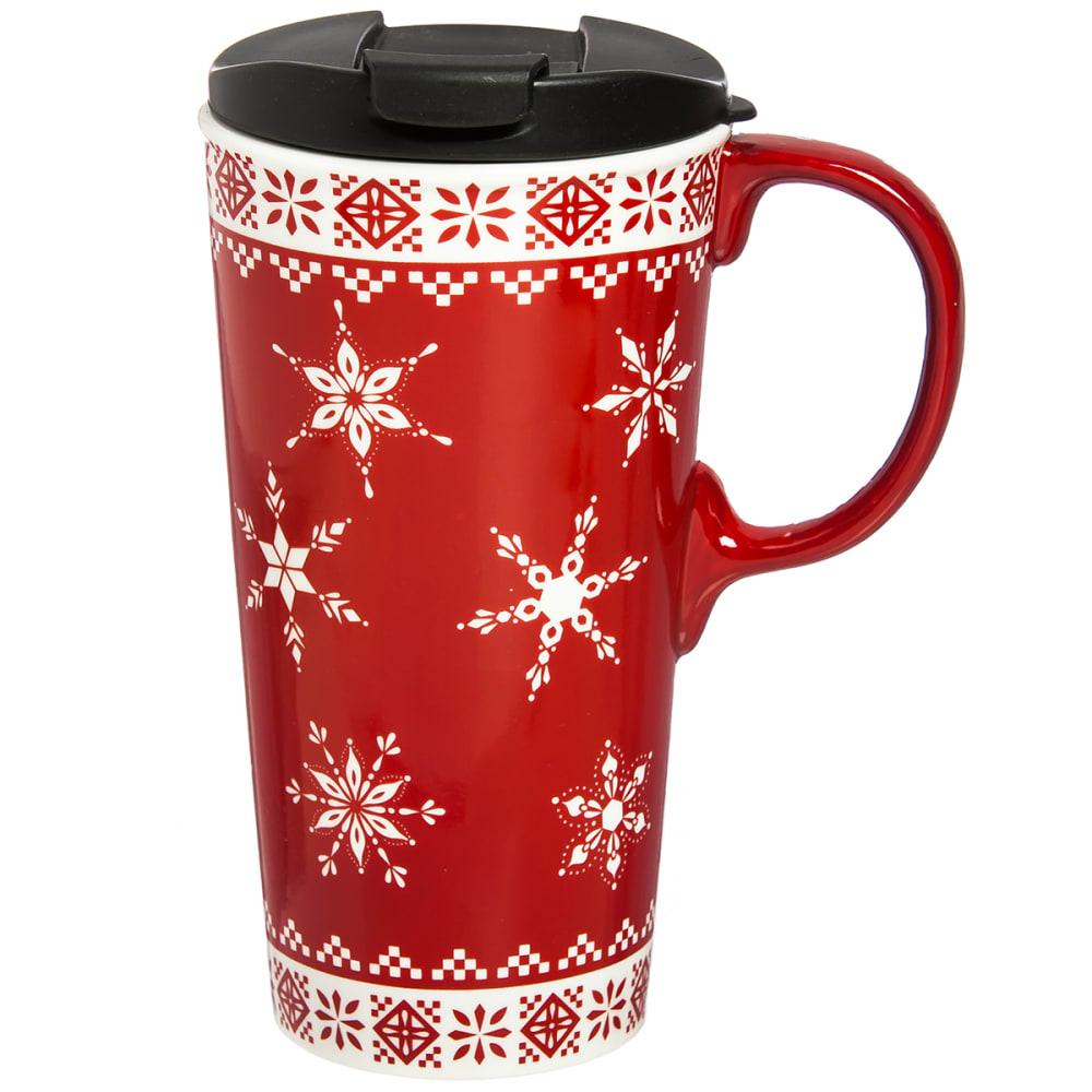 EVERGREEN Christmas Sweater Ceramic Travel Coffee Mug - NO COLOR