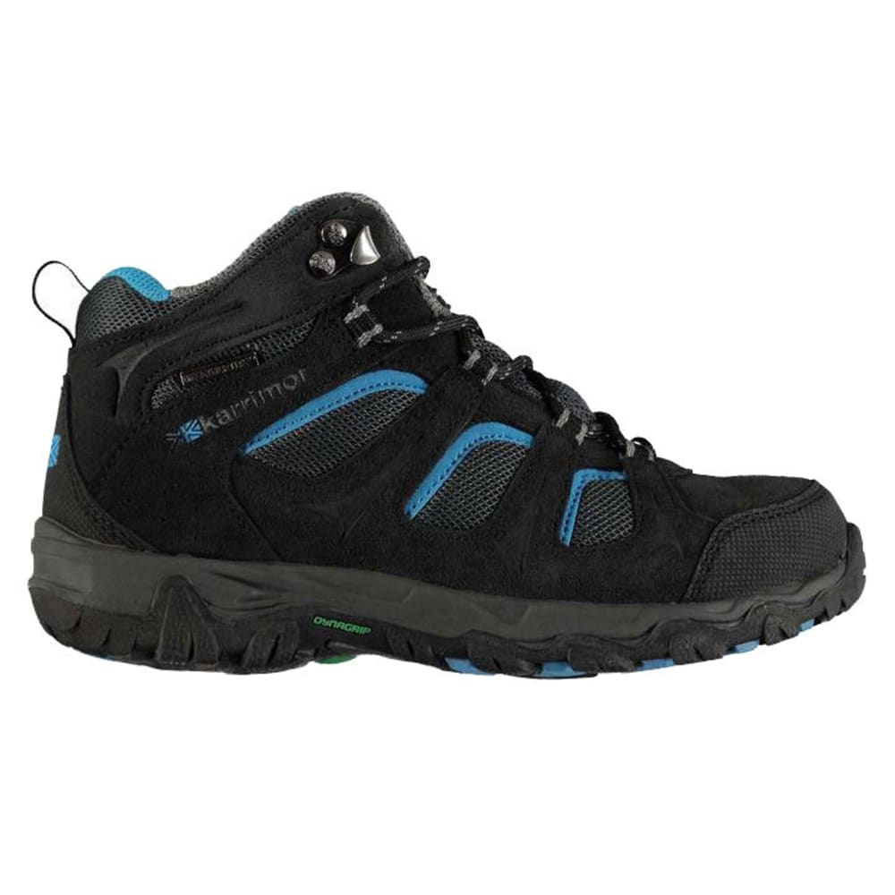 KARRIMOR Little Kids' Mount Mid Waterproof Hiking Boots - BLACK/BLUE