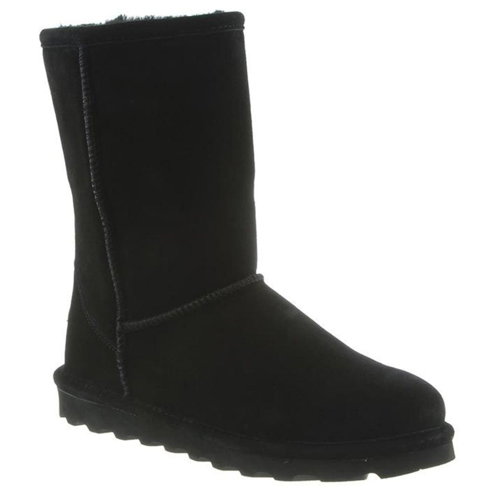 BEARPAW Women's Elle Short Boots, Wide - BLACK-011