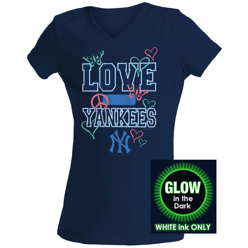NEW YORK YANKEES Women's New Era Glow-in-the-Dark Short-Sleeve Tee - NAVY