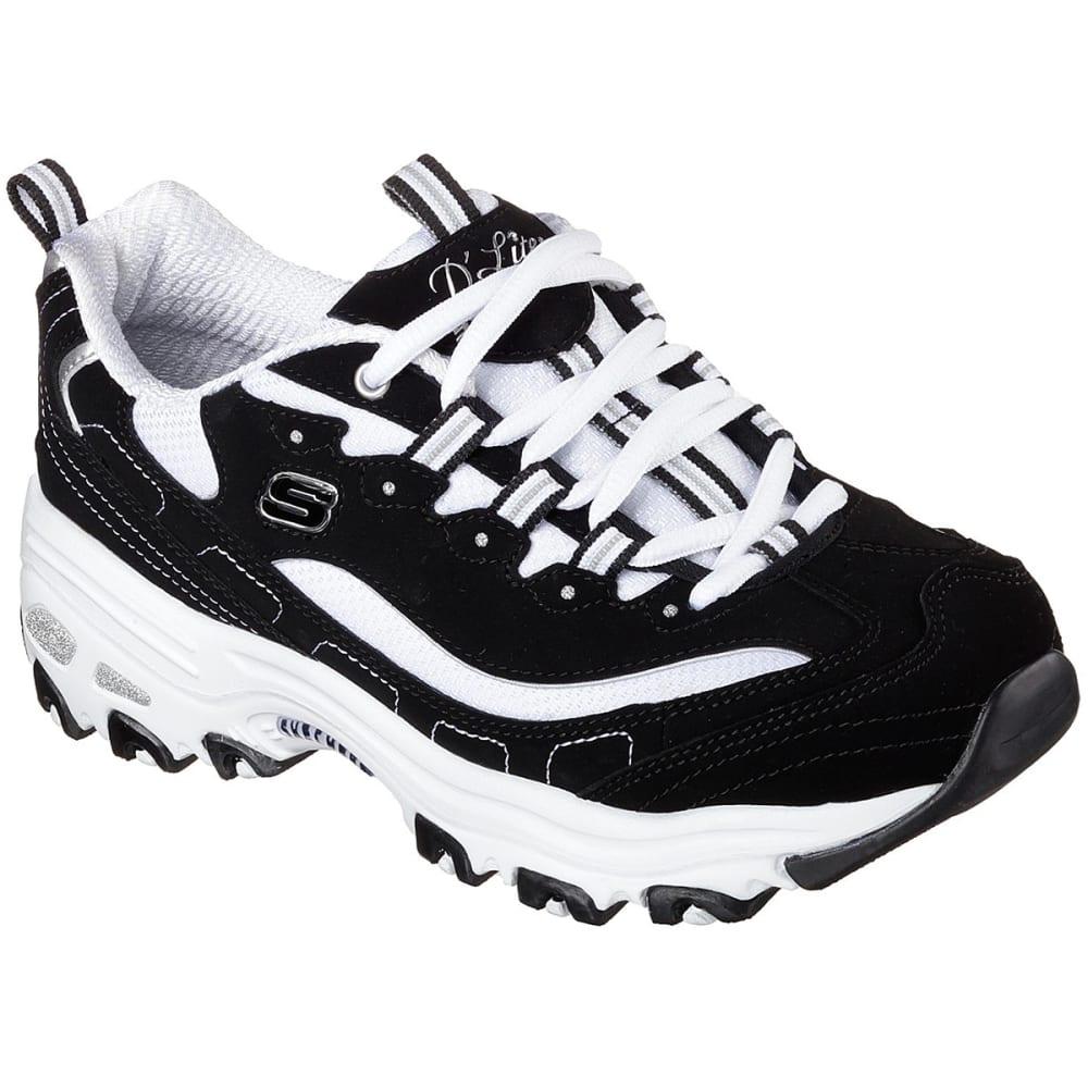 SKECHERS Women's D'Lites - Biggest Fan Sneakers - BKW- BLK/WHITE