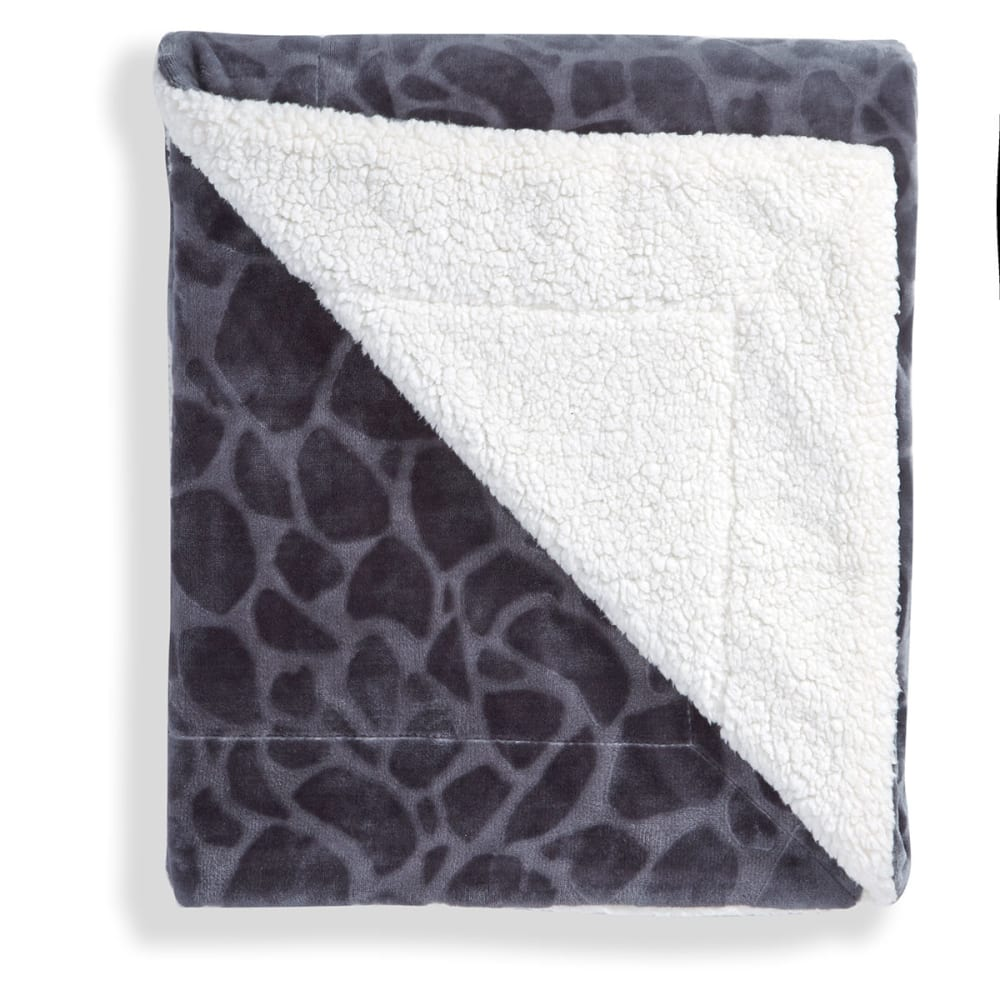 LUXE LIVING 50 x 60 in. Sherpa Throw Blanket - ORGANIC - 0005