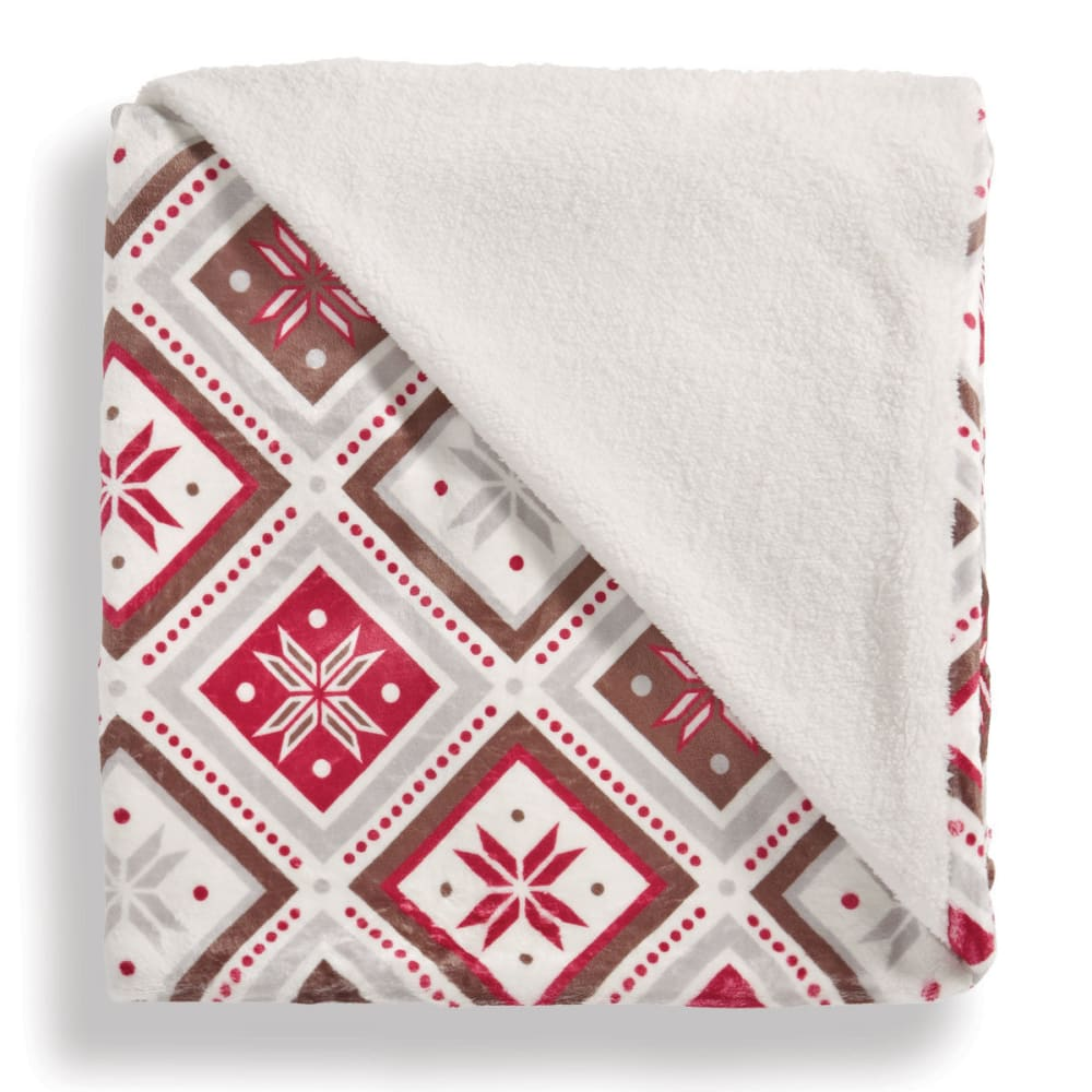 LUXE LIVING 50 x 60 in. Sherpa Throw Blanket - WINTER QUILT - 0002