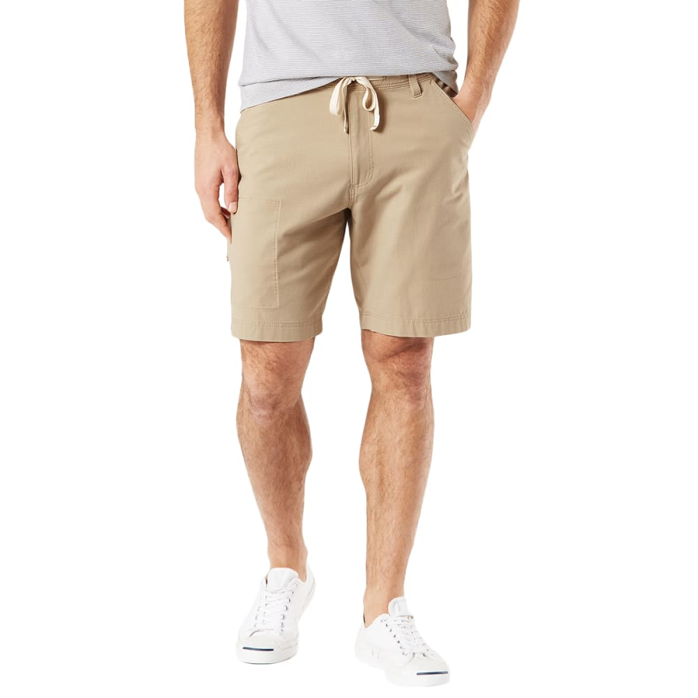 DOCKERS Men's Smart 360 Flex Utility Short - SAHARA KHAKI-0001