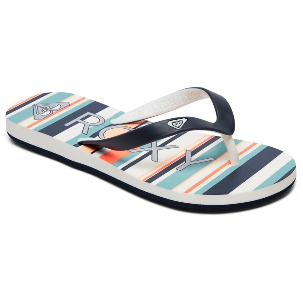 Roxy Kids' Tahiti Vi Flip Flops - Various Patterns, 1