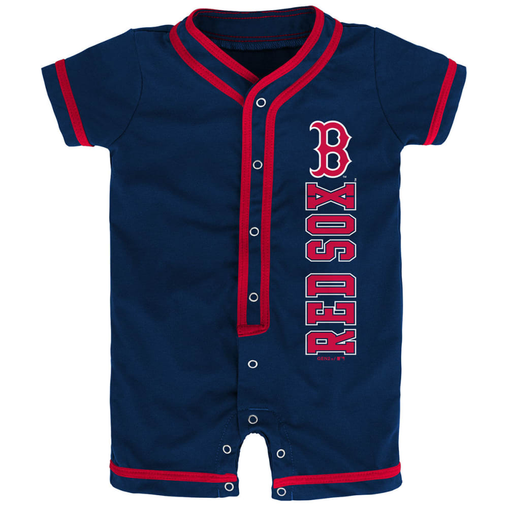 BOSTON RED SOX Newborns' Game Ready Coverall Romper - NAVY