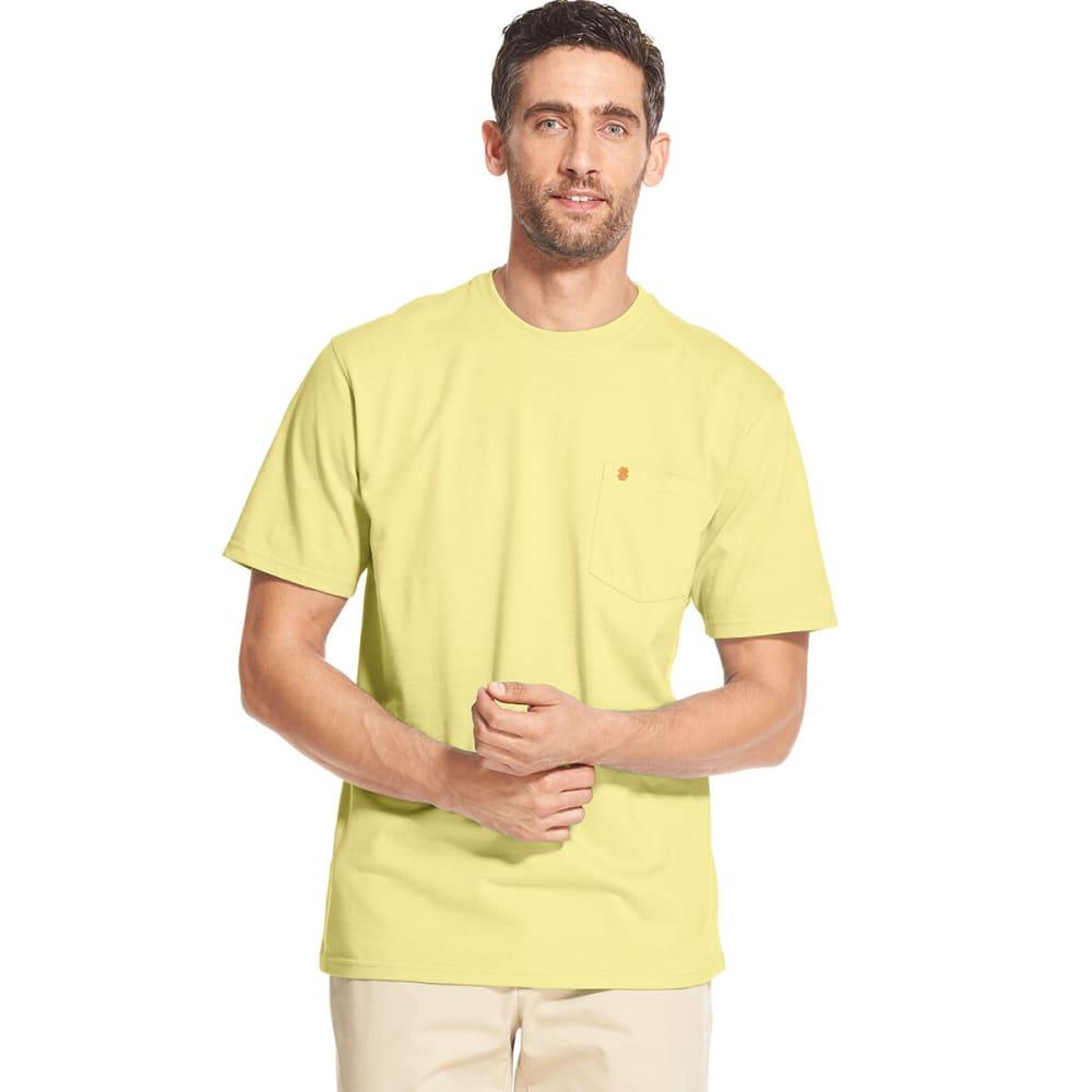 IZOD Men's Saltwater Short-Sleeve Pocket Tee - LEMON-736