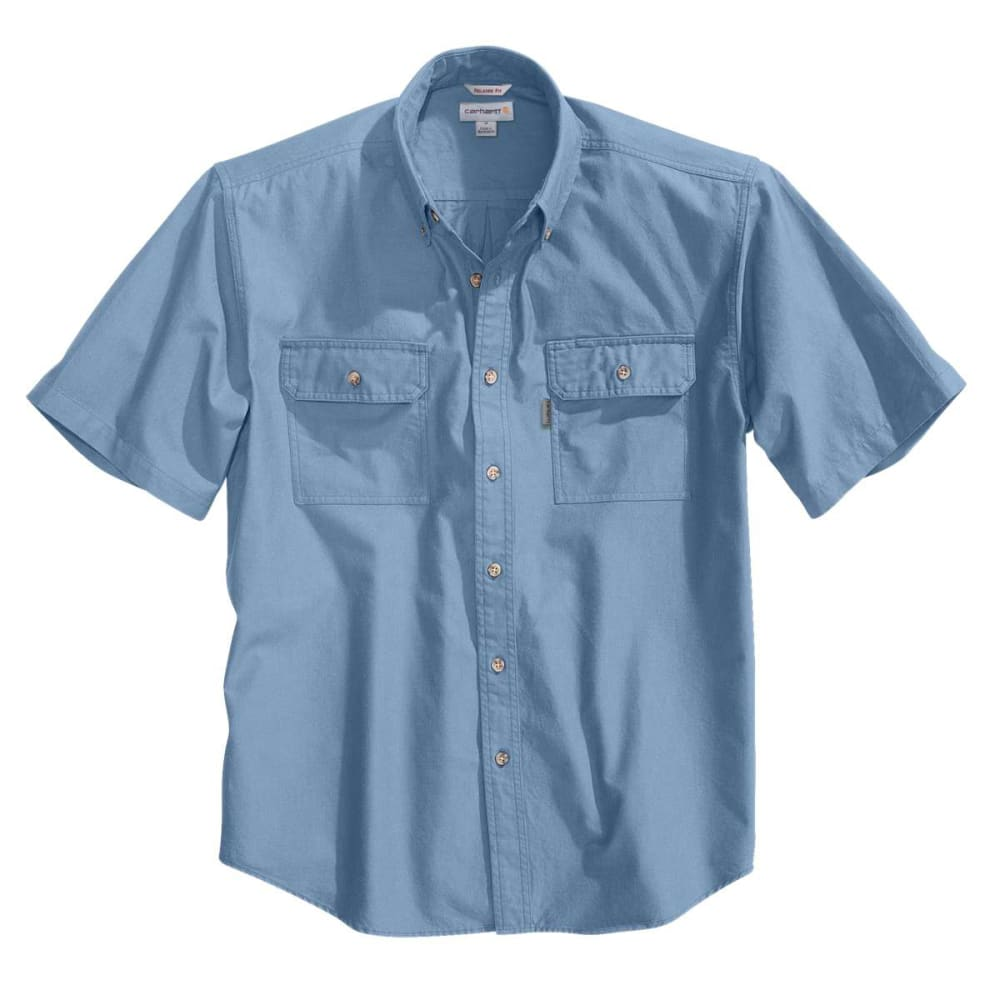 CARHARTT Men's Fort Short-Sleeve Chambray Shirt M