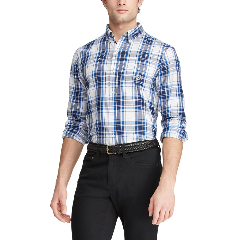 CHAPS Men's Long-Sleeve Woven Button Down Shirt M