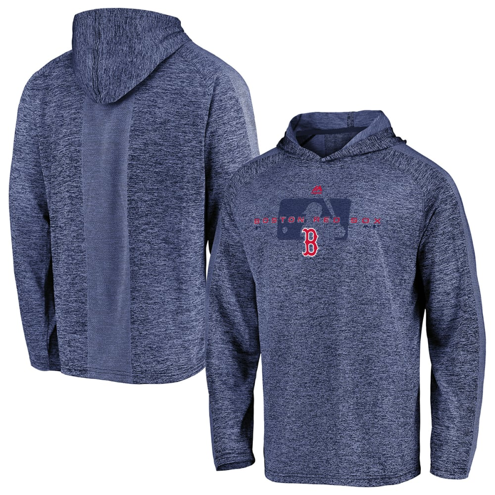 BOSTON RED SOX Men's Majestic Authentic Ultra-Light Cool Base Pullover Hoodie - NAVY