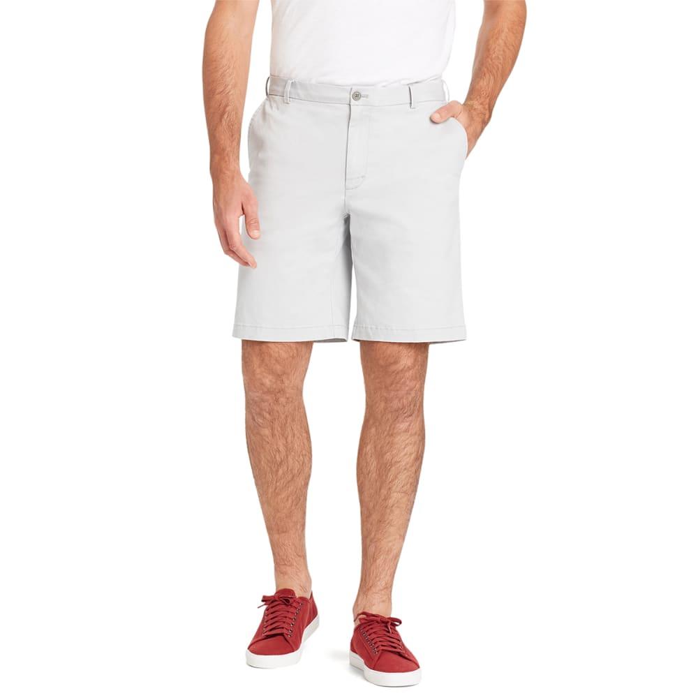 IZOD Men's Saltwater Stretch Chino Shorts - 050-HIGH RISE GREY