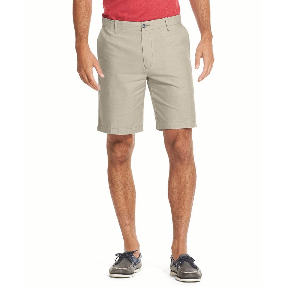 Izod Men's Breeze Oxford Shorts - Brown, 30