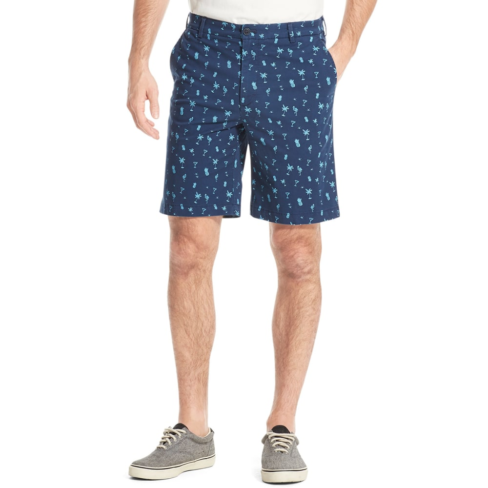 IZOD Men's Saltwater Stretch Short - NAVY PINEAPPLE-411